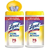 Best Cleaning Wipes - Lysol Dual Action Disinfecting Wipes, 150ct (2X75ct) Review