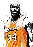 Poster, Motiv: Basketball Players Sport Stars Shaquille