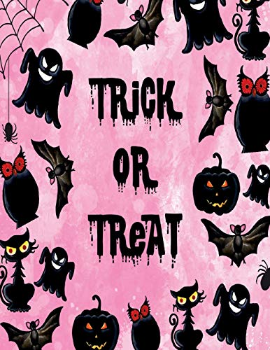 Trick or treat: Trick or treat  on pink cover and Dot Graph Line Sketch pages, Extra large (8.5 x 11) inches, 110 pages, White paper, Sketch, Draw and Paint (Trick or treat  on pink notebook, Band 1)