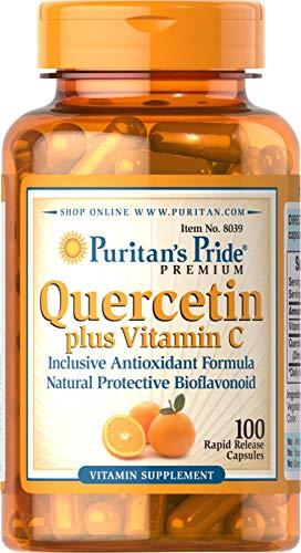 Puritans Pride Quercetin Plus Vitamin C, 100 Count