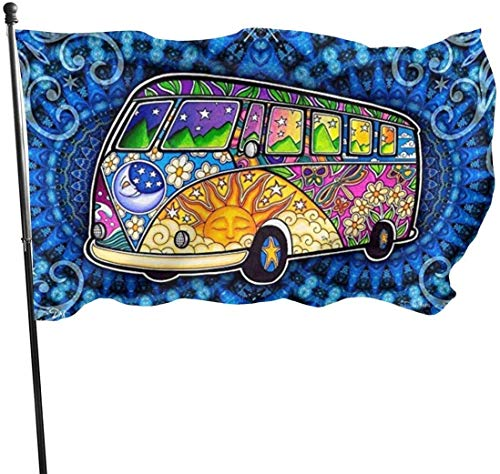 N/A American Guard Vlag Banner Garden Flags Bus Road Trip Hippie Lente Indoor Yard voor Festival Patio Sport Decoratie 3x5 voet