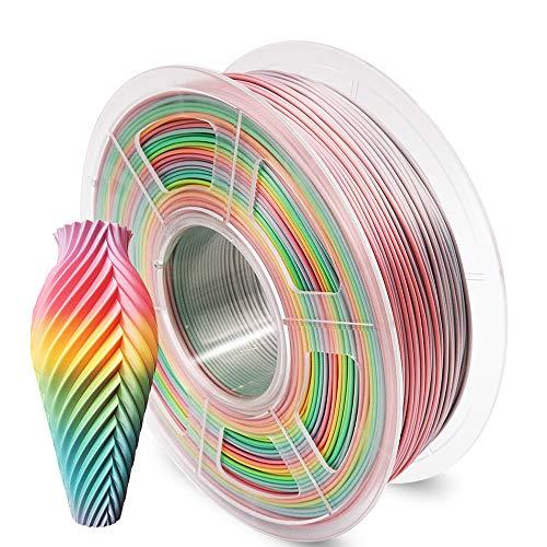 AnKun Pla Filament 1.75mm, Rainbow PLA 3D Printing Filament for 3D printer and 3D Pen, Dimensional Accuracy +/- 0.02mm, 1kg 1 Spool