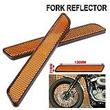 AnXin Reflector lateral de motocicleta 2 piezas delantero para Harley inferior pierna Sliders Dyna Softail Sportster FXD
