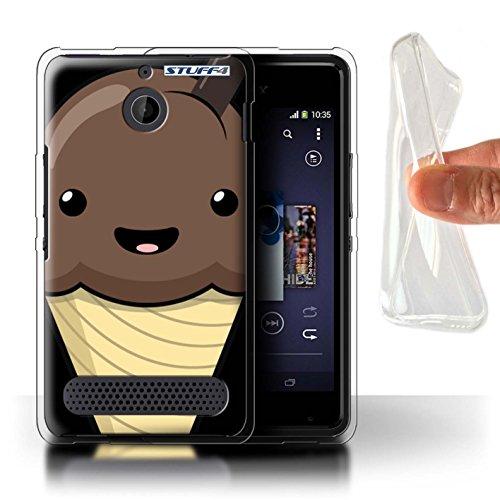 Stuff4 Var voor Sony Xperia C/E/M Kawaii Voedsel Sony Xperia E1 Chocolade IJs