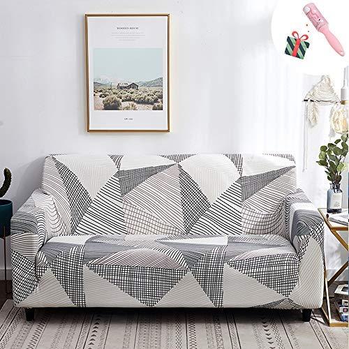 Funda Sofá de 3 plazas Universal Estiramiento, Morbuy Cubierta de Sofá Cubre Sofá Funda Furniture Protector Antideslizante Elastic Soft Sofa Couch Cover (4 plazas,Rompecabezas Gris)