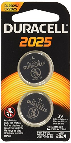 Duracell 2025 Coin Button Batteries, 2 Count (Pack of 6)