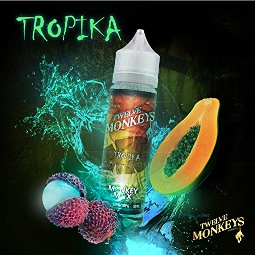 Tropika (50ml) Plus e Liquid by Twelve Monkeys Nikotinfrei