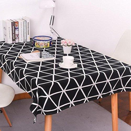 Tafelkleed rooster Katoenen Doek Katoen Linnen Zwart/Wit Driehoek Rechthoekig Thuis Picknic Stofdicht Anti-Fouling Soft Premium Tafel
