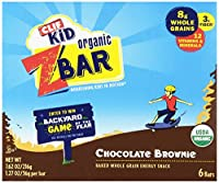 Clif Kid Organic ZBar, Chocolate Brownie, 6 Count-1.27oz Bars () by Clif Kid ZBar