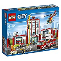 LEGO City 60110 - Große Feuerwehrstation, Kinderspielzeug, Bauspielzeug