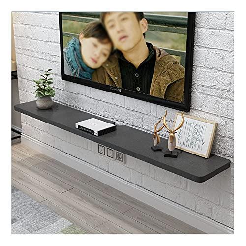 DRAGDS Gabinete de Soporte de Tv Flotante con Gestión de Cables, Consola de Madera para Sala de Estar, Soporte de Tv Mueble de Pared/C / 80 × 23.5 × 2.5Cm,E,100 × 23.5 × 2.5Cm