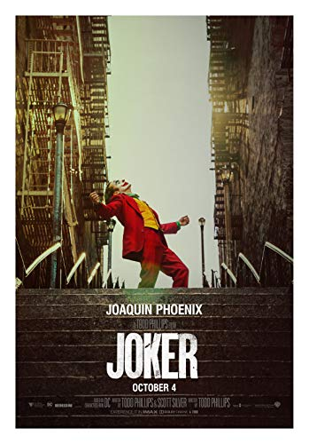 Póster de la película Joker de alta calidad con impresión de Joaquín Phoenix, Robert de Niro Todd Phillips, tamaño 11 x 17 #1
