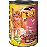 Friskies fuagrás para el Gato, con Ternero y Verduras, 400g–Paquete de 24Piezas