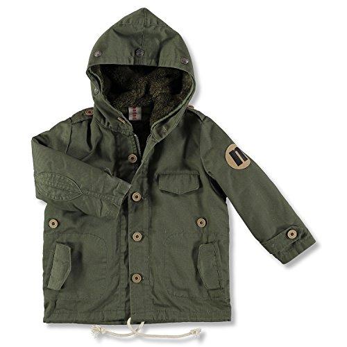 nadadelazos Casual Coat Patrizio, Manteau Fille, Olive Green, 18-24 mois
