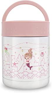 Kids Thermos Food Jar,13.5oz Soup Thermos for Hot Food,Leak Proof Vacuum Insulated Stainless Steel Hot Lunch Containers for Kids,Wide Mouth Thermal Food Flask,Thermos Lunch Box for School (Kid Pink)