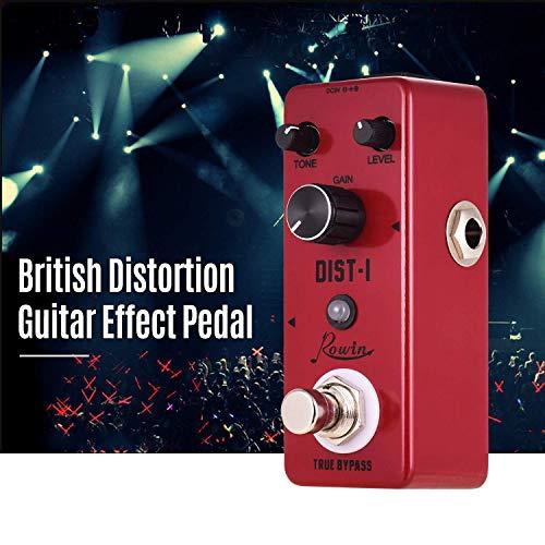 MIEMIE Guitarra Pedal De Efectos De Distorsión DIST-I Aleación De Aluminio De La Cáscara True Bypass con Fuerte De Frecuencia Intermedia Y De Alta Distorsión