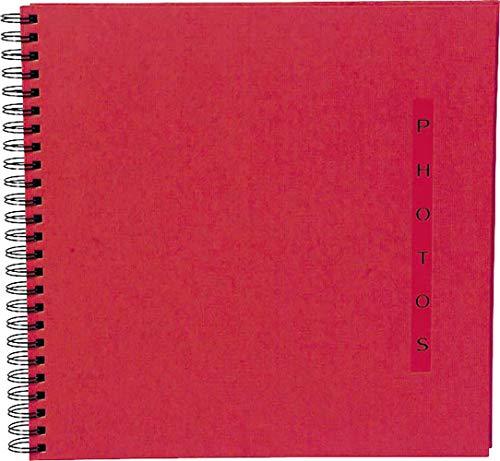 Exacompta 16925E Fotoalbum Design mit Spiralbindung, 60 schwarze Seiten, 32 x 32cm, 1 Stück, Rot