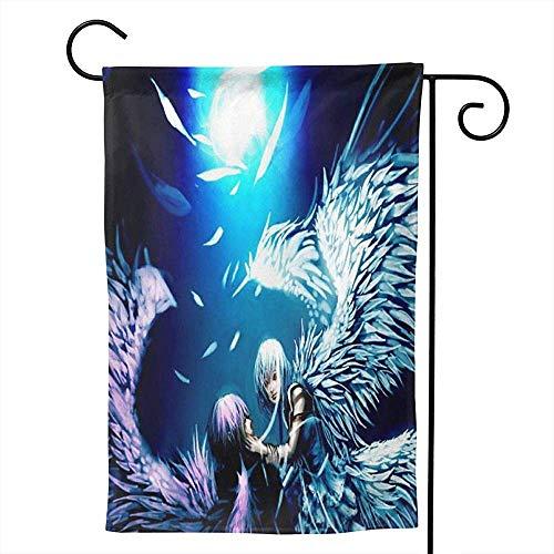 CHANGSHABF Yard Banner, Aangepaste Tuin Twee Engelen Liefde Anime Behang Decoratie 30X45Cm Dubbelzijdige Tuin Vlag