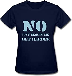 Vansty No Makes Harder 100% Cotton Shirts for Women