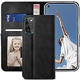YATWIN Handyhülle Oppo A72 Hülle, Klapphülle Oppo A52 Premium Leder Brieftasche Schutzhülle [Kartenfach] [Magnet] [Stand] Handytasche Hülle für Oppo A72 Cover, Schwarz