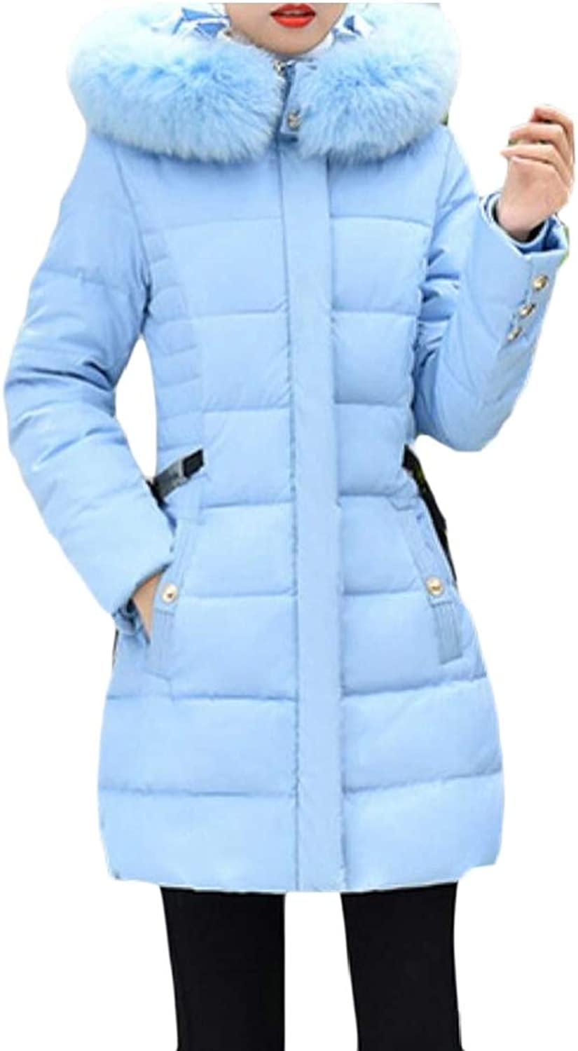 Alion Womens Winter Lightweight Down Coat Hooded Packable Down Jackets Outwears