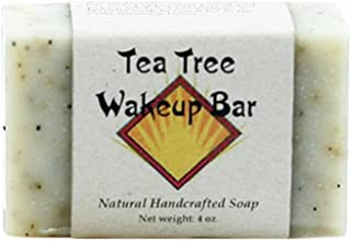Tea Tree Soap - Handmade Soap with Poppy Seeds, Coconut, Olive, Sweet Almond and Palm Oils, Cocoa and Shea Butters, Tea Tr...