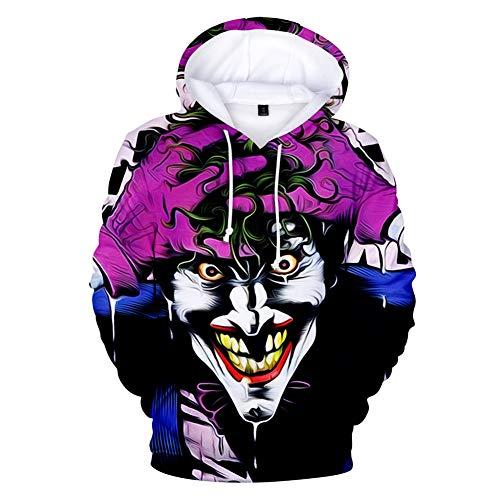 Unisex 3D Hoodie Clown Sweatshirts Männer Herbst Winter Pullover 3D Print Pullover Streetshirt Fashion Tops,a,XL