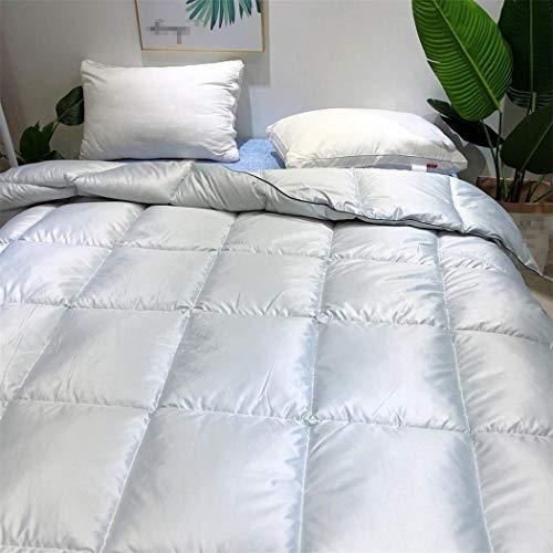 Laoling The Quilt Core Down Duvet Core Washable Exquisite Fluffy Thick Winter Bedding Warm Feather Quilt Duvet Core For Home Light Grey 150x200cm