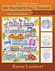 My favorite fall things coloring book