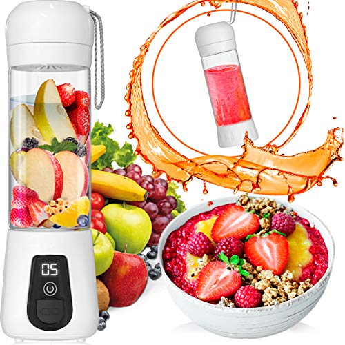 Portable Blender Lacomri – Powerful Crusher for Frozen Fruits and Veggies – Travel Blender – Mini Blender with Stainless-Steel Blades – Ideal for Healthy Juices and Smoothies