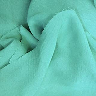 Solid Sheer Chiffon Fabric Polyester Dress 58 Inch Wide- Fabric by The Yard (F.E.) (1 Yard, Aqua)