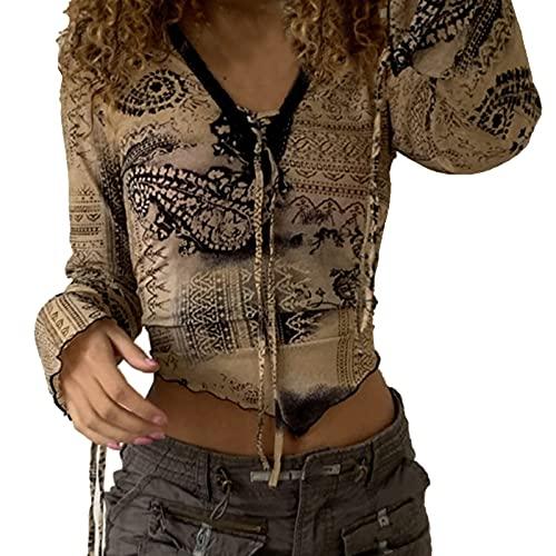 Damen Herbst Winter LäSsig Casual Weihnachtsdruck Pulli Langarmshirts T-Shirt Rundhals Ausschnitt Lose Bluse Hemd Pullover Oversize Sweatshirt Oberteil Tops