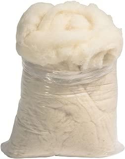 Kit de 450 g de lana cardada, blanco natural