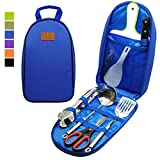 Gold Armour Camp Kitchen Utensil Organizer Travel Set Portable BBQ Camping...