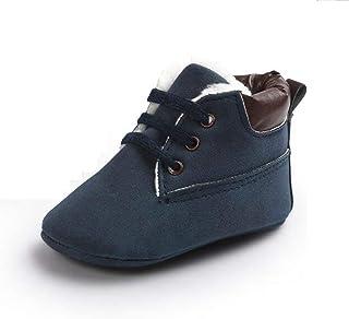 ベビーシューズ 男の子 上履き ベビー 履きやすい 子供靴 こども靴 柔らかい スエード 軽量 耐磨 靴 赤ちゃん かわいい ファーストシューズ 6~12ヶ月 出産祝い プレゼント おしゃれ (12cm, ブラウン)