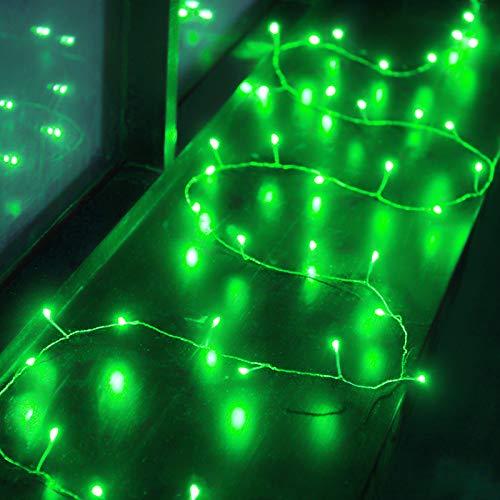 6.5ft 40 LED Luci Stringa Verde Petardo Luci a Ghirlanda a Batteria Giardino Interno Esterno Camera da Letto per Matrimoni Halloween Natale Giorno di San Patrizio LED Feste Decorazioni