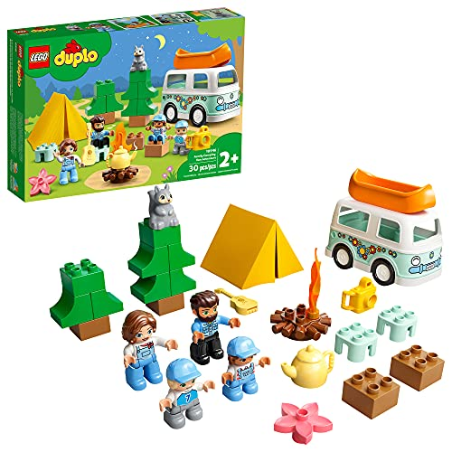 LEGO DUPLO Town Family Camping Van Adventure 10946 Building, Playing and Learning Camping Toy for Toddlers and Kids; New 2021 (30 Pieces)