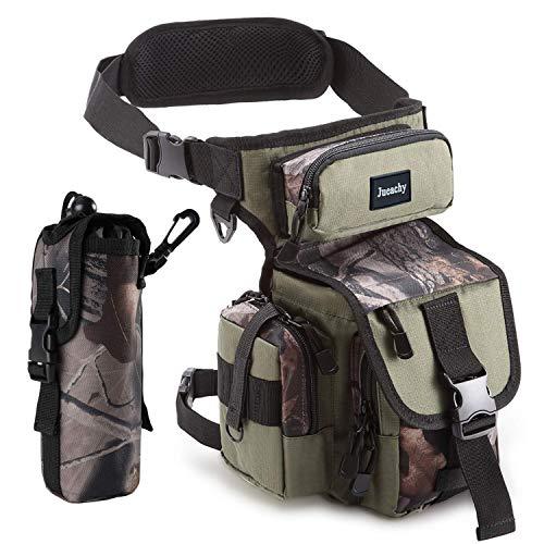 Jueachy Multifunktional Drop Leg Taille Tasche Taktischer Militär Oberschenkel Hip Outdoor Pack für Motorrad Wandern Reisen Angeln Werkzeugtasche (Army Green Camouflage)