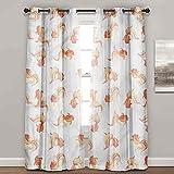 Cortinas para dormitorio, peces y acuarios de agua dulce, lindas cortinas para dormitorio (2 paneles de ancho 122 x largo 96 pulgadas)