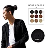 Fast Hair Bun for Men REECHO Hair Extensions Chignon Synthetic 3 inches in Diameter Size Small Color Black