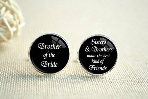 Gemelos de boda, gemelos de hermano de la novia, gemelos de mejores amigos, gemelos de hombre, gemelos personalizados, regalo de boda para él