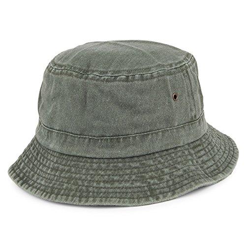 Village Hats Chapeau Bob Pliable en Coton Olive - X-Large