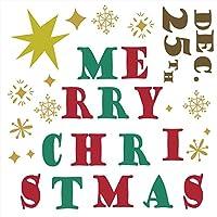 ウォールステッカー クリスマス 飾り 60×60cm シール式 装飾 オーナメント ツリー リース クリスマス 壁紙 雑貨 ガラス 窓 DIY サンタ プチリフォーム パーティー イベント 賃貸 wsm-015041-ws