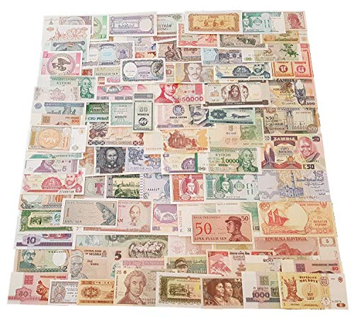 World Banknotes - 100 Banknotes Different Foreign, Currency, Uncirculated, History Rare