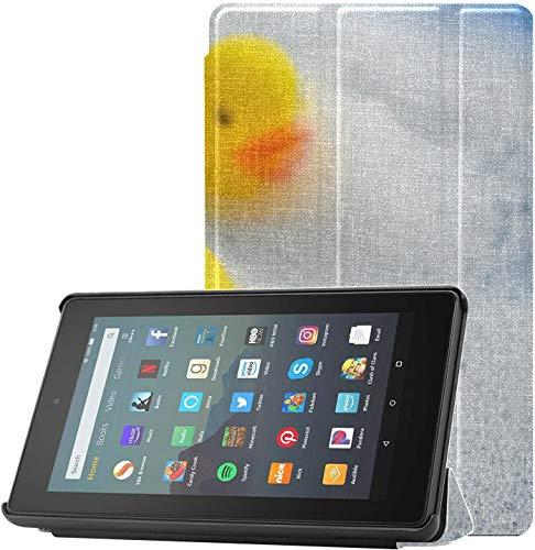 Fundas para tabletas Fire 7 Patito de Goma en Espuma de baño de Burbujas Funda para Kindle Fire 7 Versión 2019 para Tableta Fire 7 (novena generación, versión 2019) Ligera con suspensión/activación