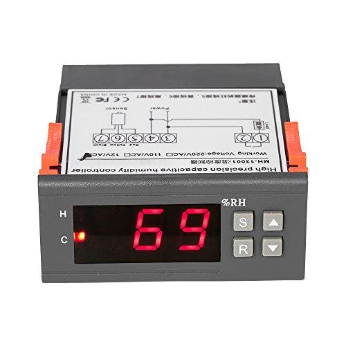 KKmoon 10A 12V Mini Regolatore d' Umidità Digitale Controllore d' Umidità Gamma di Misurazione 1% ~ 99% con il Sensore