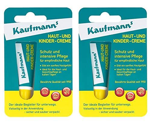Kaufmanns Haut- und Kindercreme in der Tube, 2er Pack (2 x 10ml)