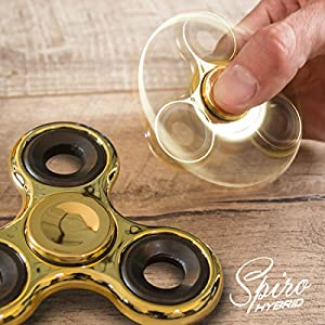 Fidget Spinner Chrome Edition Hand Spiner Finger Kreisel Anti Stress Spielzeug (Gold Chrome)