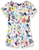 Nautica Girls' Fashion Romper, Floral Blu Grotto, S7