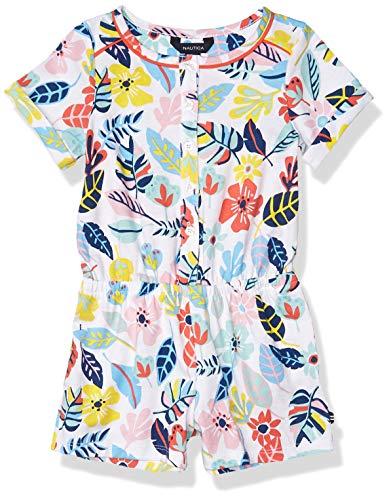 Nautica Girls' Fashion Romper, Floral Blu Grotto, M8/10